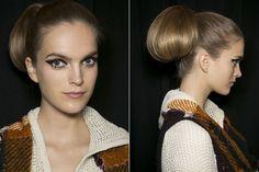 Ponytail pouf-bun,  //  Fall 2013 Hair Trends - Best Hair Trends for Fall 2013 - Harper's BAZAAR  (Image 50).