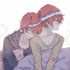Mystic Messenger- Seven (Choi Saeyoung /Luciel)(707) and Choi Saeran (Unknown) #Otome #Game #Anime. Susanghan Messenger Christmas