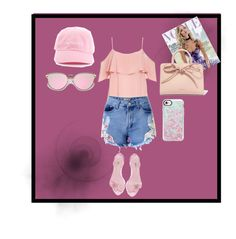 A fashion look from May 2017 featuring cut-out shoulder tops, jean shorts and pink shoes. Browse and shop related looks. Casetify, Bb, Waves, Shoe Bag, Polyvore, Collection, Shopping, Design, Fashion