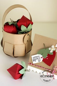 cute basket made out of paper!