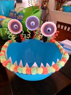 DIY Monster Party food bowls! Dollar Store items.