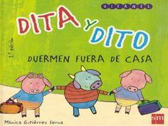 """""""Dita y Dito duermen fuera de casa"""" Cuento adaptado con pictogramas broadmaker by marhugo, via Slideshare"""