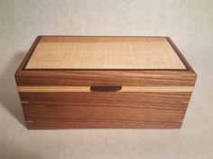 Wood Box Keepsake Letter Valet Treasure Box. by HaasWoodConcepts
