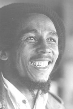 Bob Marley - one of the most genuine smiles you will probably ever see!!