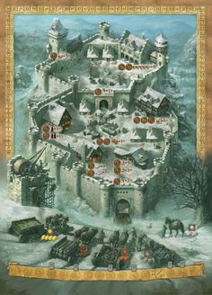 A Castle for All Seasons (winter side): art by Michael Menzel