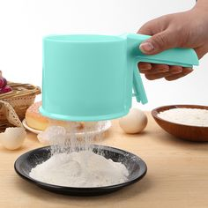 Plastic Mesh Flour Sifter Cup Shape Sieve Filter Baking Icing Sugar Powder Shaker Strainer Sieve Tool Home Kitchen Bakeware Tool