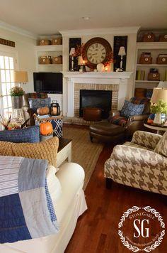 Family room design – Home Decor Interior Designs Cozy Living, My Living Room, Home And Living, Living Room Decor, Kitchen Living, Modern Living, Living Area, Dining Room, Home Interior