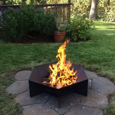 Our fire pits are laser cut from 3/16 corten weathering steel and are hand welded in our family owned shop in Washington state. Available in a