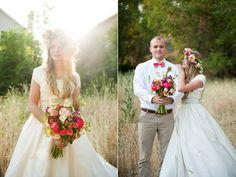 i literally love EVERYTHING about this girl's wedding. EEEKKK!!! (: // flower head wreath utah wedding flowers calie rose