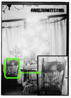 Baby in Chair by Christmas Tree  (circa 1910)  http://www.angelsghosts.com