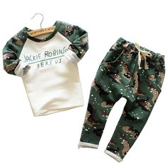2015 Newest Hot sale cool baby boys camouflage pattern cotton casual tracksuit long sleeve shirt and pant suit