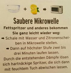 Mikrowelle reinigen