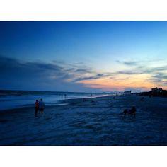 Dusk at the #beach. #usa #sea #sand