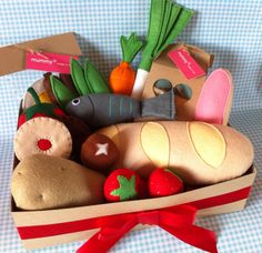 Pretend Play Felt Food Bumper Hamper Gift by mummymadeitme on Etsy, £35.00