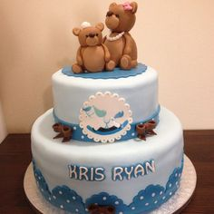 Baby Shower Cake for boys by Na Furtado Cake Designer