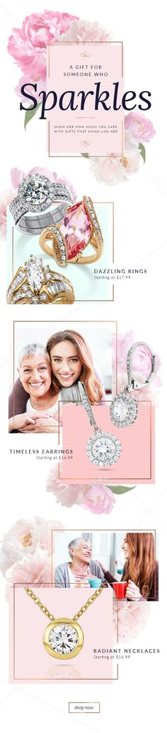 E-mail Design   #email #fashion #graphicdesign #marketing #advertising #spring #jewelry #springemail #springfashion #marketing #emailmarketing #inspiration #gooddesign #e-mail design #emaildesign #mothersday #mothersdaygiftideas