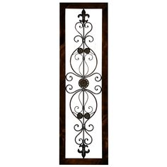 This metal plaque's abstract design at the centre complements the bland edges perfectly. The mahogany brown complements the artistic design and brings out the best features of the plaque.