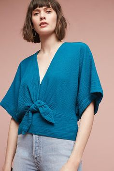 Discover unique sale clothing for women at Anthropologie. Shop all sale dresses, tops, bottoms, jackets & more on sale. Girl Fashion, Fashion Looks, Fashion Outfits, Blouse Styles, Blouse Designs, Anthropologie Clothing, Kimono Blouse, Casual Tops, Blouses For Women