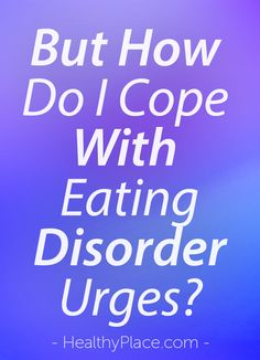 """Eating disorder recovery means learning new ways to cope. Instead of reverting…"