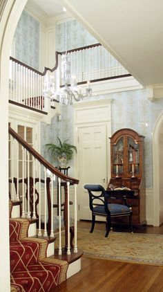 Gorgeous foyer and staircase by Robert Reeder Interiors | Portfolio