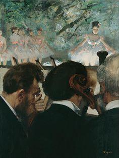 Edgar Degas(1834ー1917)「Orchestra Musicians(Músicos en la orquesta)」(c.1872)