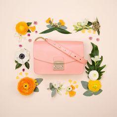 39127be1fca Furla Spring Is Here, Fashion Handbags, Women s Handbags, Flower Fashion,  Furla,