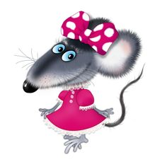 """Photo from album """"Мышки"""" on Yandex. Cartoon Drawings, Cute Drawings, Animal Drawings, Mouse Pictures, Monkey Doll, Cute Rats, Cute Mouse, Pet Rocks, All Things Cute"""