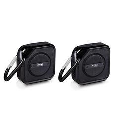 TDK Life On Record A122PK Trek Bluetooth Wireless Speaker 2 Pack Black -- ** AMAZON BEST BUY **