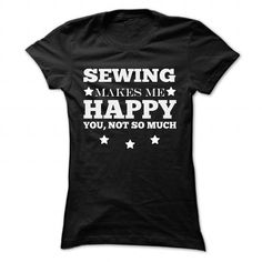 sewing - #housewarming gift #student gift. WANT IT => https://www.sunfrog.com/Hobby/sewing-Black-63473966-Ladies.html?68278