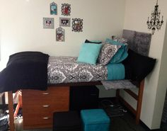 Cute and simple dorm room setup