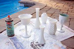 DIY Milk Glass :: Hey Gorgeous, The Blog
