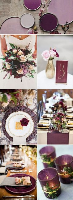 This is a great examples of the richer colors that are trending for weddings 2019.  Burgundy weddings with candles.