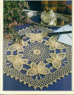 'Butterfly Collection' Crochet doily - Free pattern