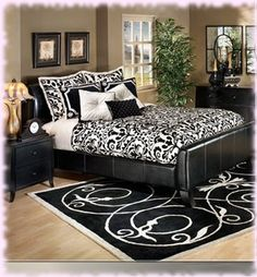 black and white bedroom ideas and decor - Damask Bedroom Ideas