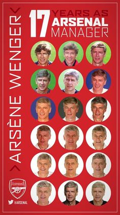 Arsene Wenger through the years. Thanks Boss. In Wenger We trust ❤️❤️❤️ Arsenal Players, Arsenal Football, Arsenal Fc, Football Team, Thanks Boss, Dennis Bergkamp, Keep The Faith, Sports, Arsenal F.c.