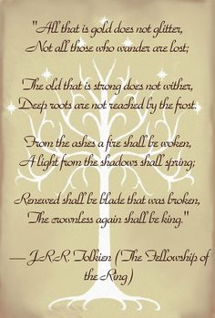 I love Tolkien!!! And I love this poem!❤