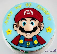 Mario cake (With images) Mario Birthday Cake, Birthday Party Desserts, Super Mario Birthday, Super Mario Party, Bolo Do Mario, Bolo Super Mario, Super Mario Bros, Little Boy Cakes, Cakes For Boys