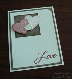 Crafting with Joanie: Make a Simple Anniversary Card Fast