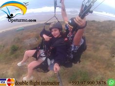 Paragliding Montañita Ecuador  Enjoy a paragliding with friends and family. In this activity you just need the desire to want to do the activity.
