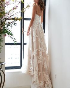 """We're taking """"blushing bride"""" to the next level. From barely-there blush, blush ombre skirts to all-over blush and pink wedding dresses, the Kelly Faetanini bridal collection has something for you no matter your street style! Short Wedding Gowns, Elegant Wedding Gowns, Wedding Dress Accessories, Colored Wedding Dresses, Wedding Dress Styles, Bridal Dresses, Wedding Titles, Wedding Beauty, Bridal Beauty"""