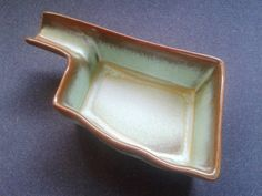 Frankoma Art Pottery Prairie Green Oklahoma Pipe Stand or Ashtray 461 / $18 / queenofsienna on Etsy