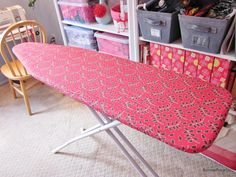 BonnieProjects: Ironing Board Cover-I have a couple scrap quilts...maybe???