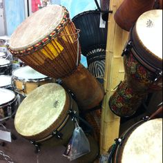 Djembe drums on sale at Guitar Center