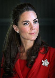 Diamond Maple Leaf Brooch worn by HRH the Duchess of Cambridge
