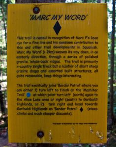 Trail description marker Trail Signs, Way Down, Markers, Names, Words, Sharpies, Sharpie Markers, Horse