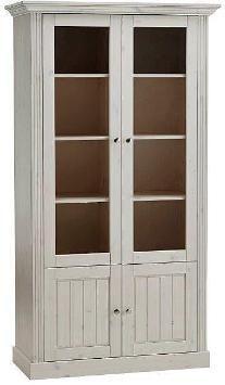 Home affaire Vitrine, »Skanderborg«, Breite 104 cm, Höhe 190 cm, weiß
