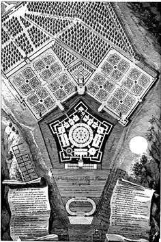 The history of garden design in Renaissance and Baroque Italy Architecture Sketches, Classical Architecture, Historical Architecture, Building Ideas, Building Plans, Star Fort, Renaissance Architecture, Regions Of Italy, Order Form