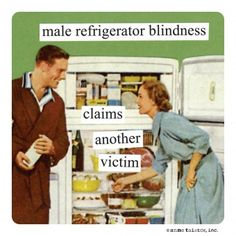 male refrigerator blindness claims another victim