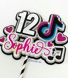 13th Birthday Parties, Birthday Party For Teens, 11th Birthday, Birthday Diy, Birthday Party Decorations, Birthday Cake Toppers, Cupcake Toppers, Imprimibles Paw Patrol, Cricut Cake