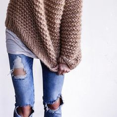 Denim + knits